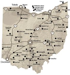 Map of Ohio Campgrounds