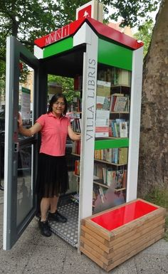 Little free library in Berlin  http://onmymind.areavoices.com/2012/12/17/a-little-free-library-for-woodbury/