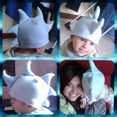 Dragon fleece hat with me and my baby