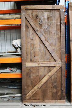 Barn look deur van burnt oak eiken! #eiken #barnlook #deur #wonenmethout #interieur