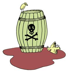 Wine Fraud Illustration Barral skull cross bones #Wine #Wineeducation