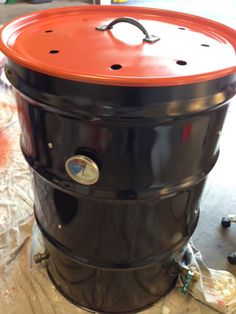 Ugly Drum Smoker Part 3 - Assembling the Hardware, Painting the Drum, and Building a UDS Side Table