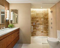 modernes badezimmer fliesen fap ceramiche beige braun holz optik ... - Badezimmer Fliesen Sandfarben