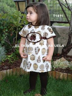 Ropa de niños - Vestidos de niña.  Little fashion dresses.  Children clothes. www.eltallerdelaabuela.es