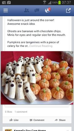 Healthy Halloween food. Really creative and cute!