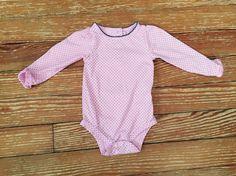 Wonder Kids 12 months pink polkadot long sleeve onesie