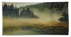 """Landscape Beach Sheet 37"""" x 74"""" also available 32"""" x 64"""" beach towels featuring the painting Tranquility by Johanna Lerwick Wildlife Nature Artist"""