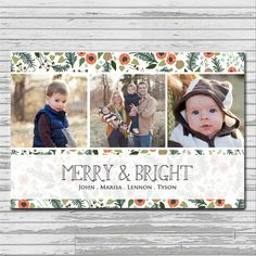 MERRY AND BRIGHT Custom Christmas Card - so sweet!