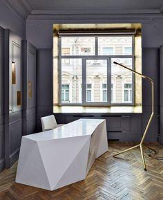 27 Stylish Geometric Home Office Décor Ideas   DigsDigs