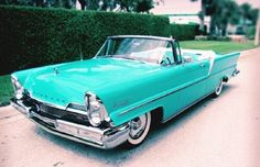 1957 Lincoln Premiere Convertible, in Turquoise.