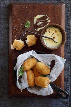 Croquetas De Jamon with Roasted Garlic Aioli (Spanish Ham Croquettes):  Crush 55