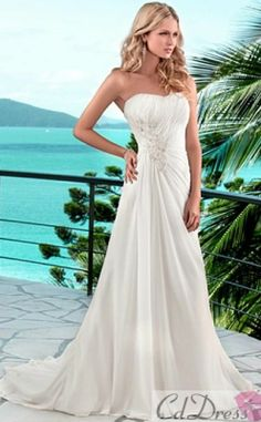 Elegant Chiffon A Line Scoop Chaple Wedding Dress For Your Beach This Website Has Really Dresses