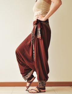 Dazzling stylish   harem pants  design ideas for fashionable ladies    (6)