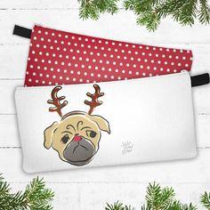 Étui à crayons, pochette à maquillage... avec chien Carlin « pug » par JojopowpowDesign sur Etsy https://www.etsy.com/ca-fr/listing/561148206/etui-a-crayons-pochette-a-maquillage