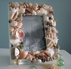 Beach Decor Seashell Frames  Nautical Decor by beachgrasscottage, $85.00