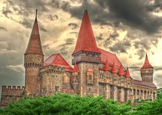 Hunyad Castle, Hunedoara, Romania. Rumored to be the place where Dracula was held as a prisoner.