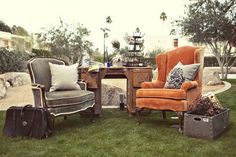 Lounge setting at Hitched from Found Vintage Rentals.