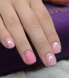Simple Pale Pink Nails