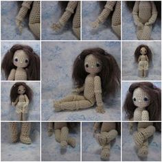 In addition to the original Bleuette crochet pattern, here is one with movable wrists and ankles!