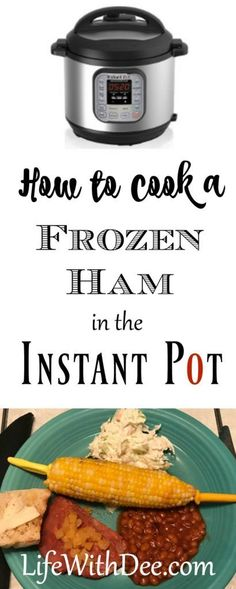 Need an easy meal but forgot to thaw something? If you have an Instant Pot and a frozen ham you're in business.You can cook a frozen ham in the Instant Pot! Cooking Ham In Crockpot, Crockpot Recipes, Cooking Recipes, Cooking Ribs, Cooking Bacon, Chef Recipes, Cooking Ideas, Pork Recipes, Yummy Recipes