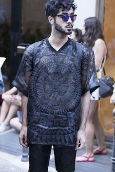 Galeria de Fotos Os looks de street style da temporada masculina Verão 2016…