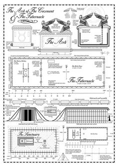 FREE Printable The Ark of the Covenant and the Tabernacle. Great to use with your daily Bible Study. From @timewarpwife