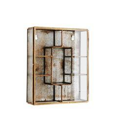 Skab Glass, Zink fra House Doctor | Kommoder, Vitrineskabe