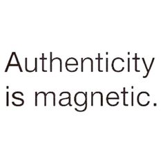 Authenticity quote.