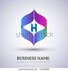 letter H logo icon design template elements for your application or company identity. - stock vector