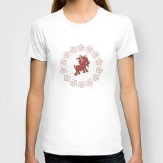 Ditsy Goat Marsala T-shirt