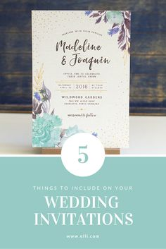 5 things to include on your wedding invitations!