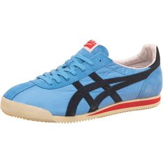 Buy Onitsuka Tiger Mens Tiger Corsair Vintage Trainers Blue/Black at MandM Direct