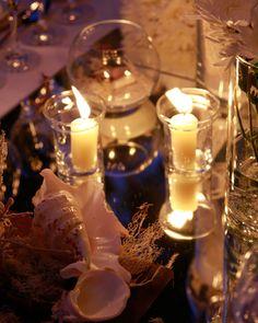Centro de mesa con velas y espejo - TELVA