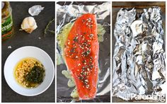allParenting Salmon baked in foil prep collage
