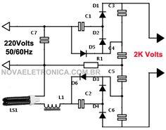 Circuito de equalizador gráfico de 7 bandas com CI LA3607