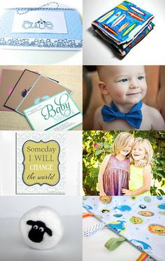 Baby love by midnightcoiler--Pinned with TreasuryPin.com  #etteam  My bow tie is featured in this adorable collection of baby/kids gift ideas!
