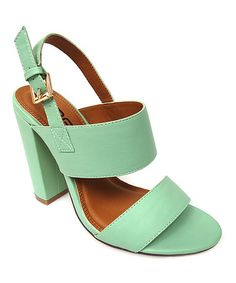 Look what I found on #zulily! Mint Fay Slingback Sandal by Bonnibel #zulilyfinds