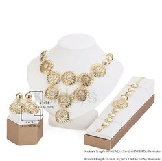 New wedding African bead jewelry set for women. New wedding African beads jewelry set for women party gift Bridal pendant Crystal accessories necklace earring bracelet ring set ,sometimes you can wear Sets sometimes you can wear the singles the nice and beautiful. Jewelry Necklaces