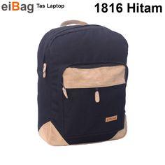 Tas Sekolah Ransel Yang Bisa Membawa Laptop 14 INCH - EIBAG 1816 Hitam