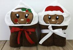 Towel Hoodie Hooded Towel Gingerbread Girl Hoodie by grannydiane