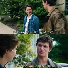 "The one he wears when he tells Hazel he thinks she's beautiful. | The One Detail You Missed In ""The Fault In Our Stars"" While You Were Crying Your Eyes Out"
