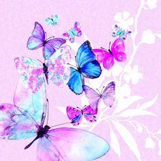 One paper napkin decoupage NEW ( serviette Napkin Decoupage, Decoupage Art, Rainbow Wallpaper, Butterfly Wallpaper, Purple Butterfly, Butterfly Flowers, Butterflies, Art Papillon, Decorative Paper Napkins