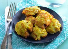 Pattypan is very mild-flavored, so my husband will eat it. And its abundant, too, so were always looking for ways to serve it. Served with fresh corn and sliced tomatoes, this is a meatless meal. Try a horseradish sauce for the fritters.