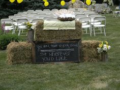 country wedding bales