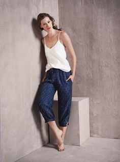 Alyssa Sutherland Eloise Double-Strap Cami and Hei Hei Diamant Joggers for Anthropologie April 2016 Lookbook