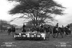 Food is awaiting your arrival from a long day on the horses and exceptional scenery | Ride Kenya Safaris