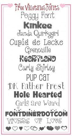 Free Valentines Fonts!