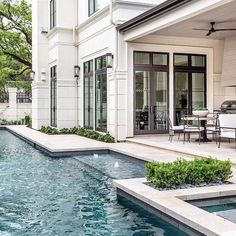 Modern House Exterior Design Ideas To Copy Rigth Future House, Style At Home, Design Exterior, Wall Exterior, Exterior Doors, Outdoor Settings, Pool Houses, Pool Designs, Backyard Designs