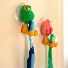 Frog in Red badzubehör Tooth Brush Holder with Suction Cup Toothbrush