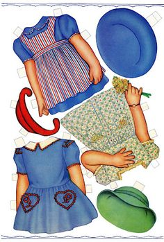 Carolyn Lee Paper Dolls These Carolyn Lee paper dolls are by artist Queen Holden from 1943.  They are Whitman #997.